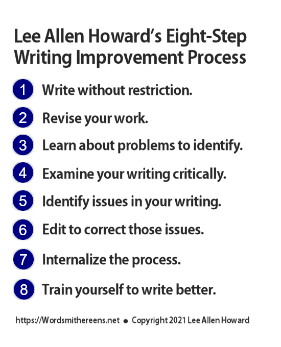 Lee Allen Howard's Eight-Step Writing Improvement Process